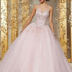 Mori Lee Blush Pink Quince Ballgown